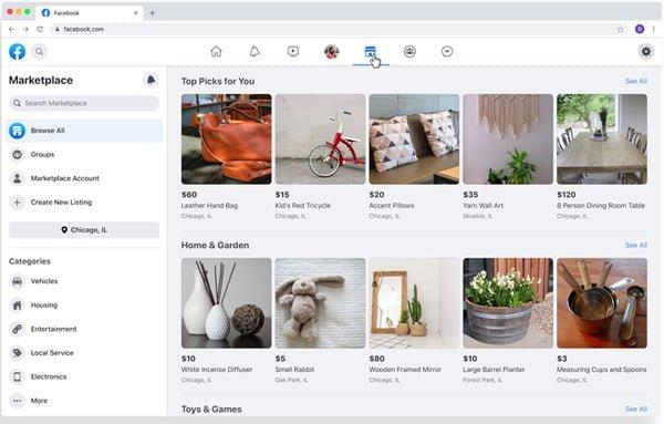 Facebook cập nhật giao diện mới trong năm 2019