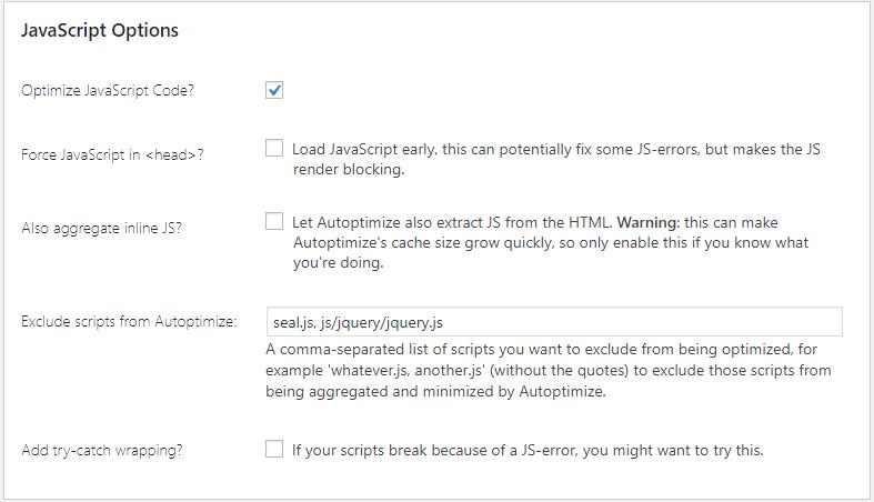 Plugin Autoptimize Tăng tốc WordPress