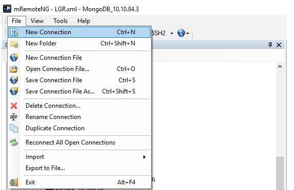 Quản lý Remote Desktop thông qua mRemoteNG
