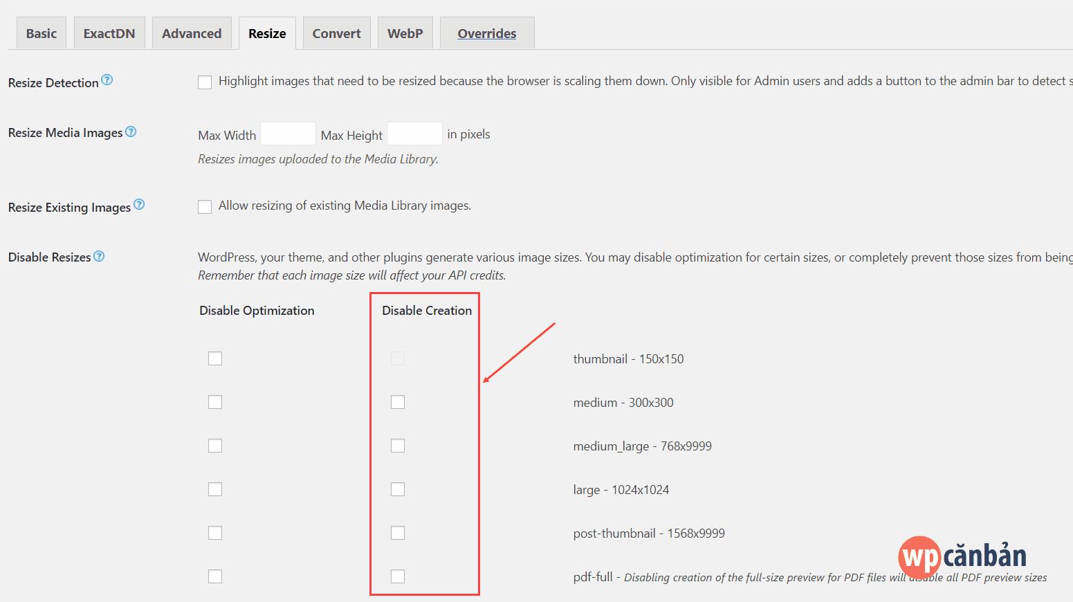 Tối ưu hình ảnh website wordpress