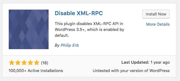 Vô Hiệu XML-RPC Bảo Mật WordPress