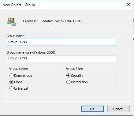 Mcsa 2019 Cau Hinh Domain Group User Ou Windows Server 2019 5