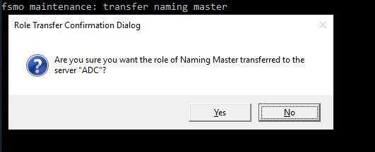 Chuyen Doi Master Roles Fsmo Ntdsutil 6
